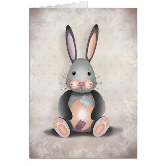 Ralph le lapin de patchwork - carte de voeux