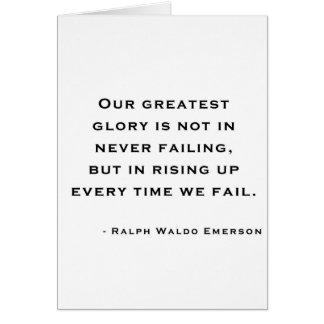 Ralph Waldo Emerson - citation de motivation Carte De Vœux