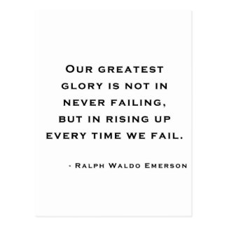 Ralph Waldo Emerson - citation de motivation Cartes Postales