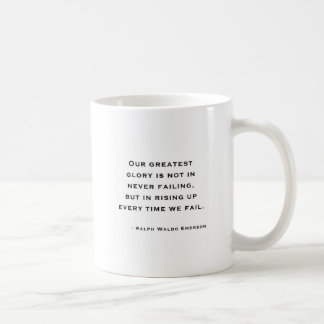 Ralph Waldo Emerson - citation de motivation Mug