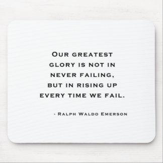 Ralph Waldo Emerson - citation de motivation Tapis De Souris