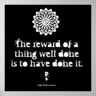 Ralph Waldo Emerson - mots de la sagesse Posters