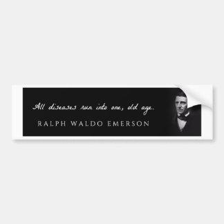 Ralph Waldo Emerson - toutes les maladies courues Autocollant De Voiture