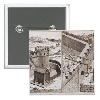 RAM de battage romaines, du 'DES S d'Encyclopedie Badge Carré 5 Cm