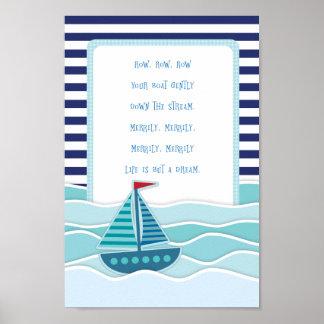 Ramez votre affiche de bateau poster