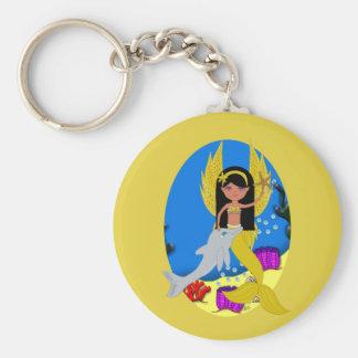 Ramla le porte - clé de Merfaery et de dauphin Porte-clé Rond