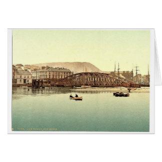 Ramsey, pont en fer, île de Man, Angleterre Pho ra Carte De Vœux