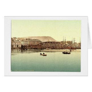 Ramsey, pont en fer, île de Man, Angleterre Pho ra Cartes De Vœux