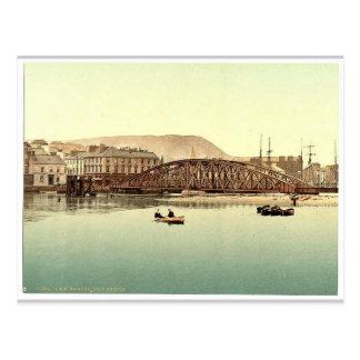 Ramsey pont en fer île de Man Angleterre Pho ra Cartes Postales