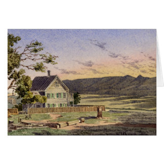 Ranch californien carte de vœux