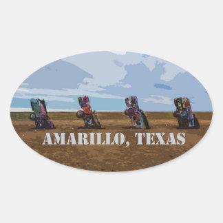 Ranch de Cadillac - autocollant d'Amarillo, le