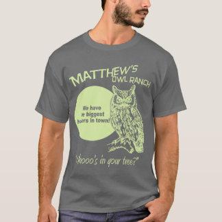 Ranch du hibou de Matthew T-shirt