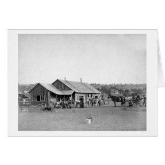 Ranch occidental en photographie du Dakota du Sud Carte De Vœux