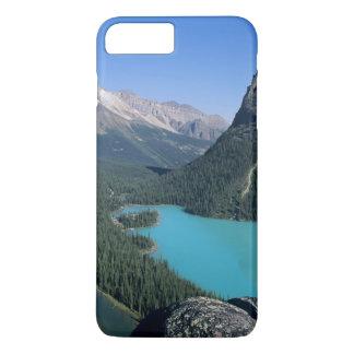 Randonneur donnant sur le lac turquoise-coloré coque iPhone 7 plus