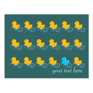 rangée de carte mignonne de canards