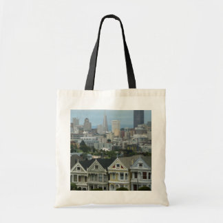 Rangée de carte postale de San Francisco Tote Bag