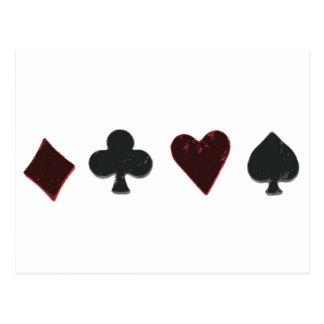 Rangée de costume de carte de jeu