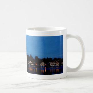 Rangée de péniche de Philadelphie, égalisant Mug