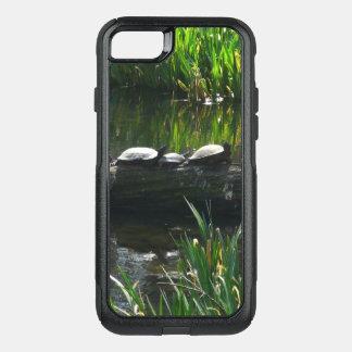 Rangée de photo verte de nature de tortues coque OtterBox commuter iPhone 8/7