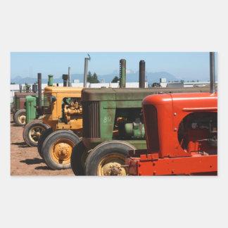 Rangée de tracteur sticker rectangulaire