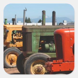Rangée de tracteur sticker carré