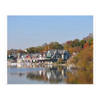 Rangée Philadelphie de Boathouse Carte Postale