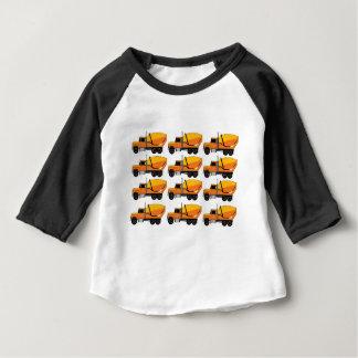 rangées de camion de mélangeur t-shirt pour bébé