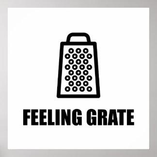 Râpe de fromage de sentiment poster