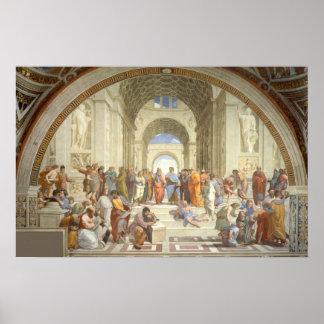 Raphael - École d'Athènes Posters