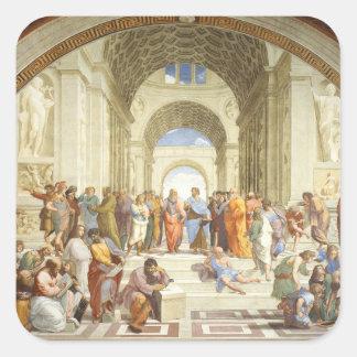 Raphael - L'école d'Athènes 1511 Sticker Carré