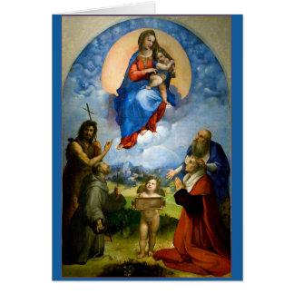 Raphael Madonna et carte de Noël d'enfant