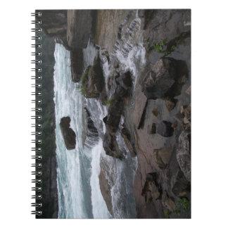 Rapide rocheuse au carnet de chutes du Niagara