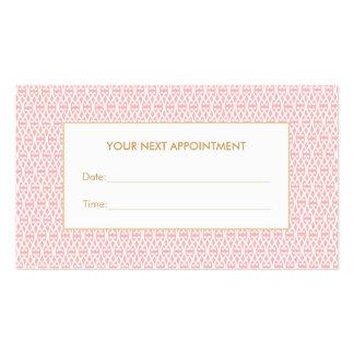 Rappel assez rose de rendez-vous de salon de carte de visite standard
