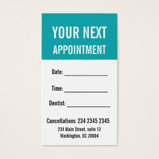Rappel AUDACIEUX minimisé de rendez-vous Cartes De Visite