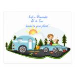 Rappel de voyage par la route carte postale