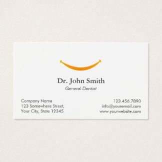 Rappel dentaire de rendez-vous de sourire simple cartes de visite