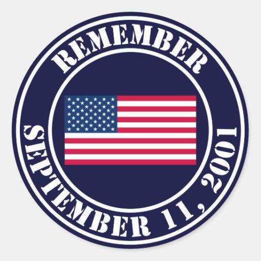 Rappelez-vous 9/11 autocollants ronds
