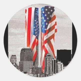Rappelez-vous 9/11 sticker rond
