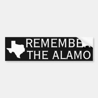 Rappelez-vous Alamo Autocollant De Voiture