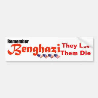 Rappelez-vous Benghazi Autocollant De Voiture