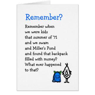 Rappelez-vous ? carte de vœux