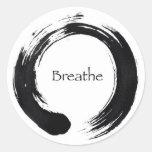 Rappelez-vous de respirer ! adhésif rond