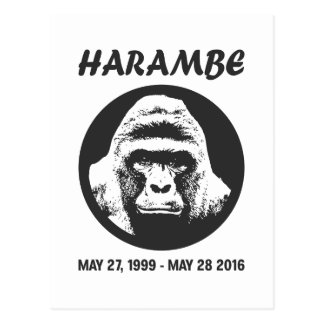 Rappelez-vous Harambe Cartes Postales