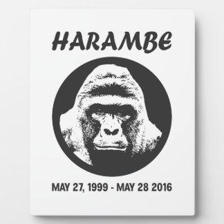Rappelez-vous Harambe Impressions Sur Plaque