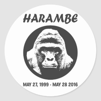 Rappelez-vous Harambe Sticker Rond
