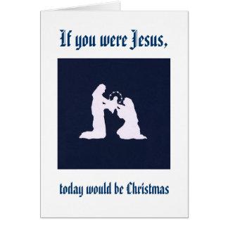 Rappelez-vous Jésus sur votre anniversaire Carte De Vœux