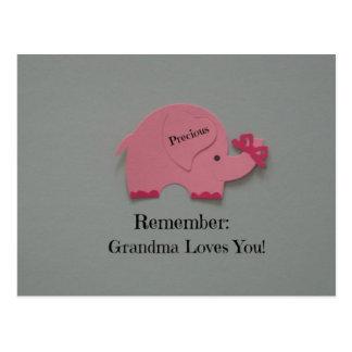 Rappelez-vous : La grand-maman vous aime ! Cartes Postales