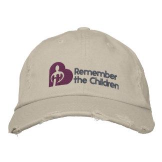 Rappelez-vous le casquette de base d'enfants casquette brodée
