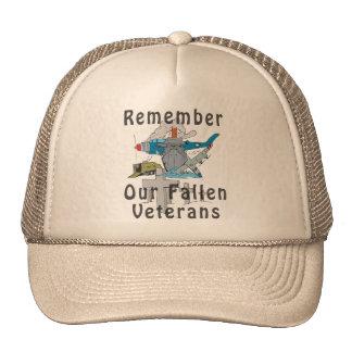 Rappelez-vous le jour de vétéran casquettes