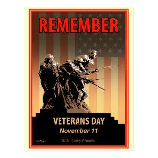 Rappelez-vous le jour de vétérans carte postale